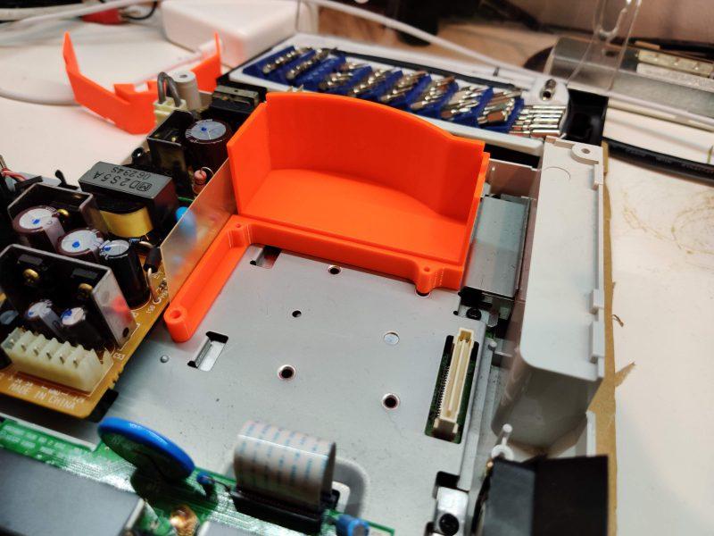 GDEMU 3D printed bracket aligned