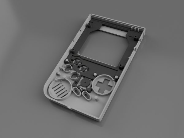 Gameboy Zero Screen, Buttons, and Joy-Con Bracket