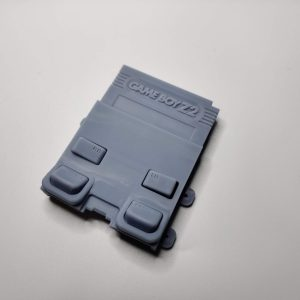Gameboy Zero Rear Button Housing v2 Gray Front