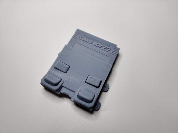Gameboy Zero Rear Button Housing v2 Gray Front