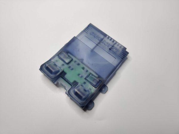 Gameboy Zero Rear Button Housing v2 Clear Black Front