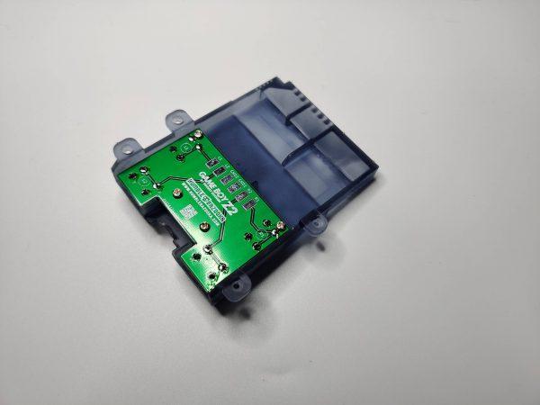 Gameboy Zero Rear Button Housing v2 Clear Black Back