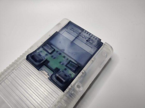 Gameboy Zero Rear Button Housing v2 Clear Black Installed