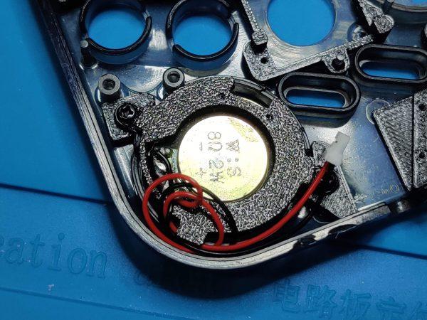 Gameboy Zero Speaker Bracket Installed