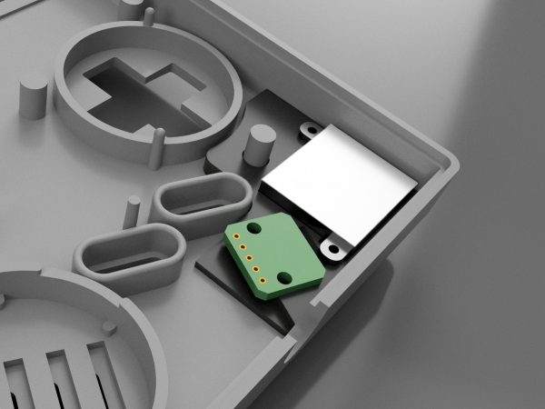 Gameboy Zero bottom Joy-Con bracket installed render