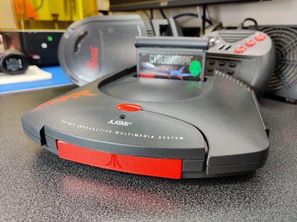 Atari Jaguar Controller Port Cover Installed